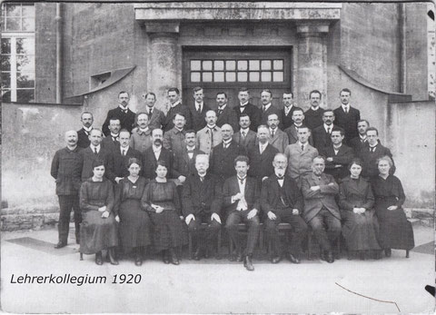 Das Lehrerkollegium im Jahre 1920