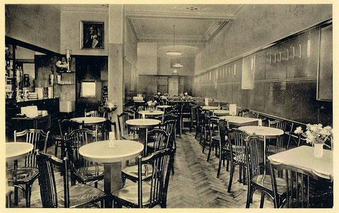 Innenansicht des Cafe Wien im Jahre 1938