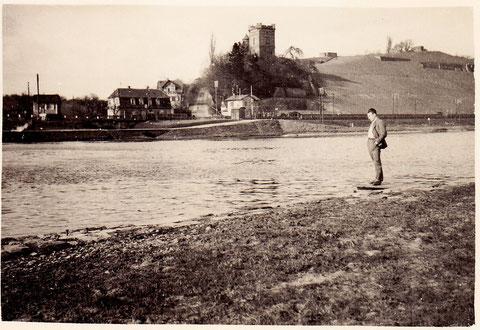 Blick auf die Peterstirn vom südlichen Mainufer aus - 1934