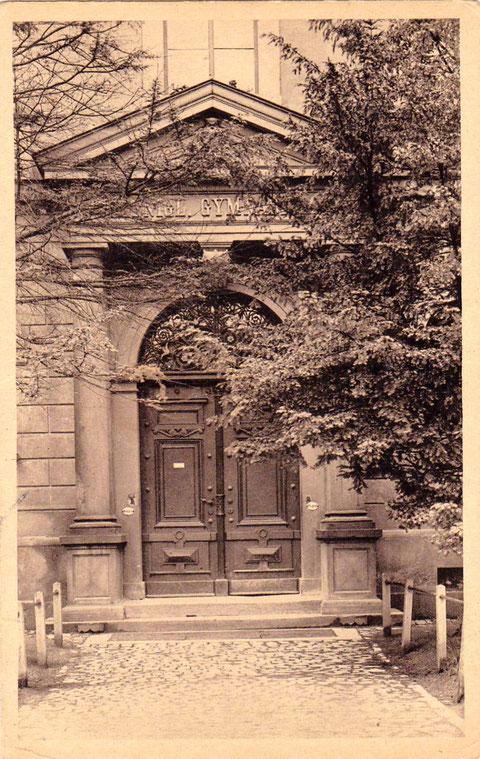 Eingang Gymnasium 1925
