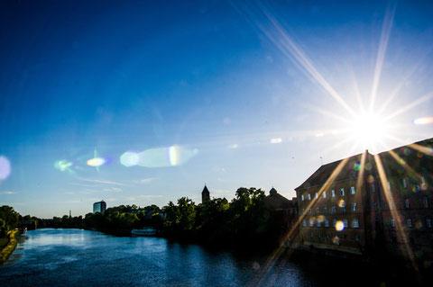 Gegenlichtaufnahme von der Maxbrücke