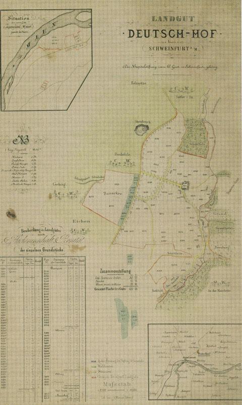 Plan des einstigen Gutes Deutschhof