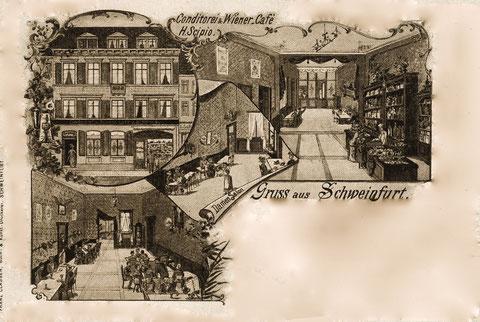 Cafe und Conditorei Scipio  1897/98