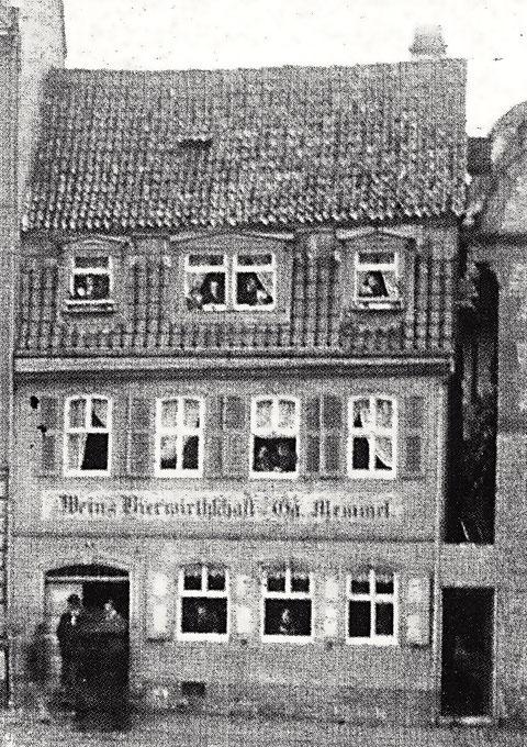 """Die Schranne um 1900 - damals Gastwirtschaft """"Memmel"""""""