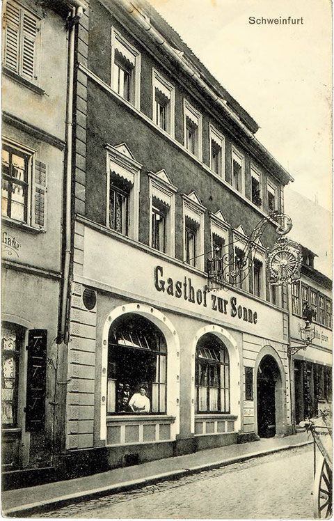 Gasthaus Zur Sonne in den 1920ern - Danke an Andreas Hedler