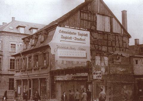Brückenstraße 18 - Sitz des Schweinfurter Tagblatts 1949-1952