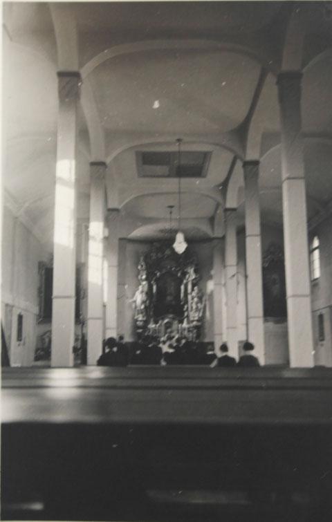 Kirche St. Josef 1935 Innenansicht