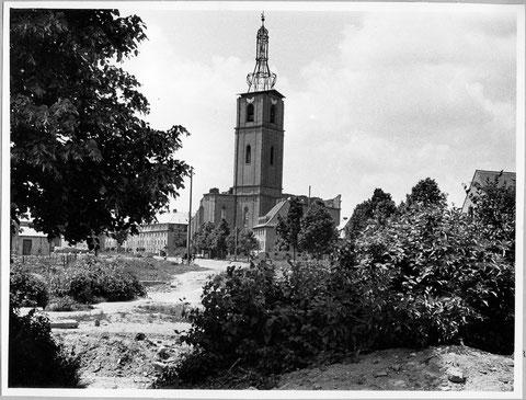 zerstörte Kilianskirche
