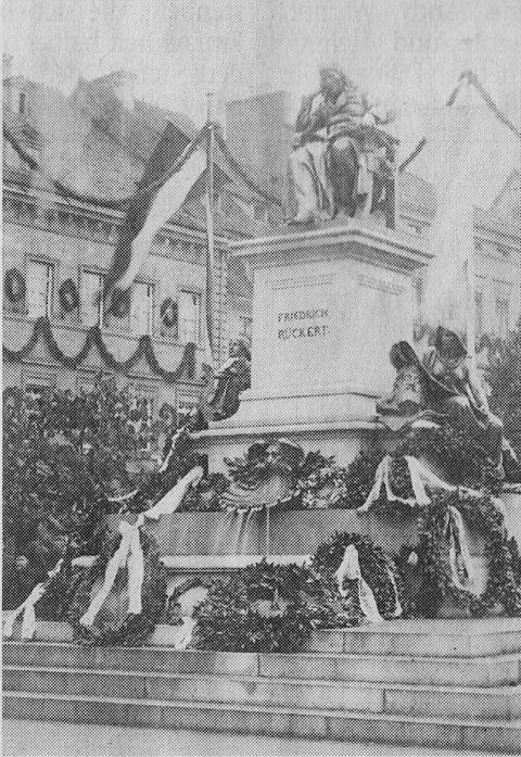 Einweihung des Rückertdenkmals 1890
