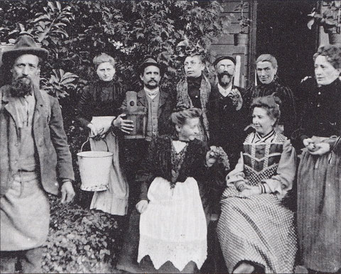 Weinlese Oktober 1905 bei Familie Blasius