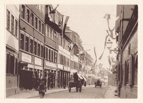 Brückenstraße - Jahr unbekannt - ganz rechts Stadtapotheke