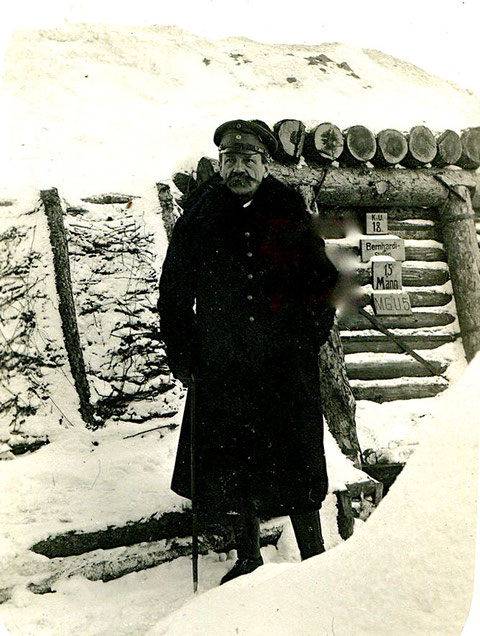 "Bataillon Schweinfurt, Russland, Winter 1917/1918 Komp.führer vor KU18 ""Bernhardi-Stollen"""