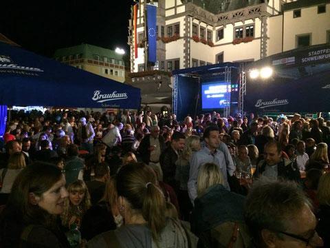 """Auf dem Marktplatz war die """"Hölle los""""! - 2014 - danke an Schweinfurt erleben e.V."""
