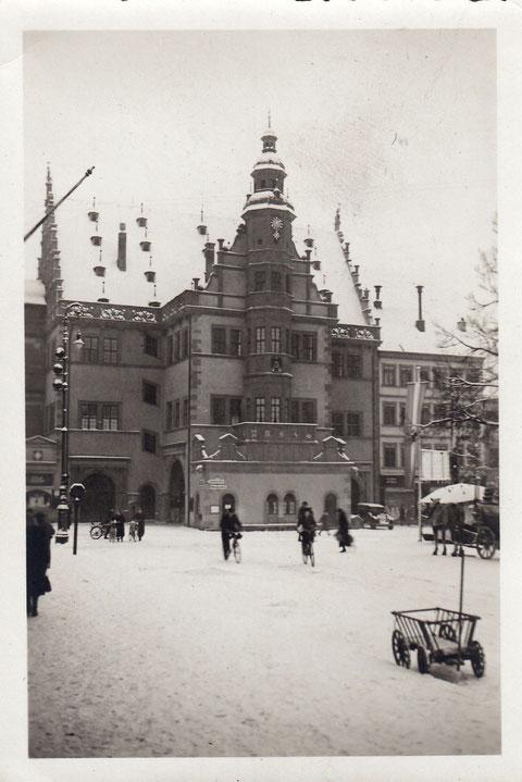 Rathaus im Winter - 1930er Jahre - Danke an Britta Hornung