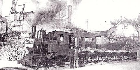 Trümmerbahn zum Schuttberg
