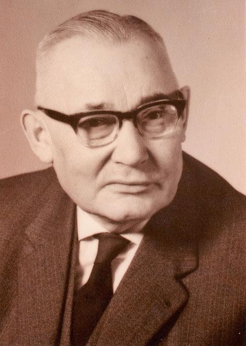 Direktor Alwin Handschuh; in dieser Funktion vom 1. April 1936 bis 30. September 1963