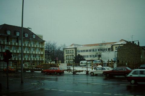 Vor dem Baubeginn - Erweiterung 1986