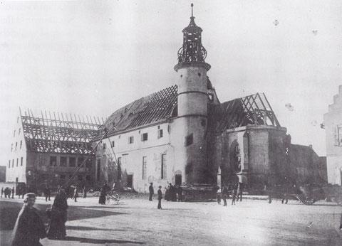 Im März 1896 wird die Spitalkirche abgebrochen