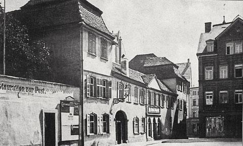 Postplatz mit Restauration zur Post - vor 1910