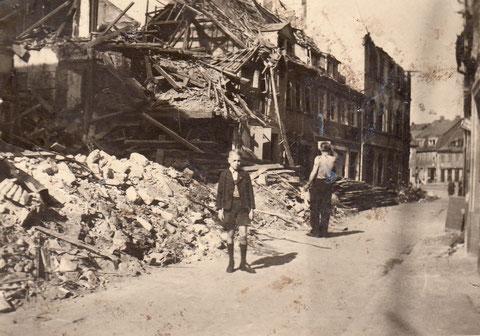 1945 - Blick Fischerrain zu Albrecht-Dürer-Platz - Danke an Horst Gößwein