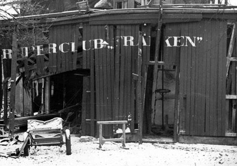 Das zerstörte Bootshaus