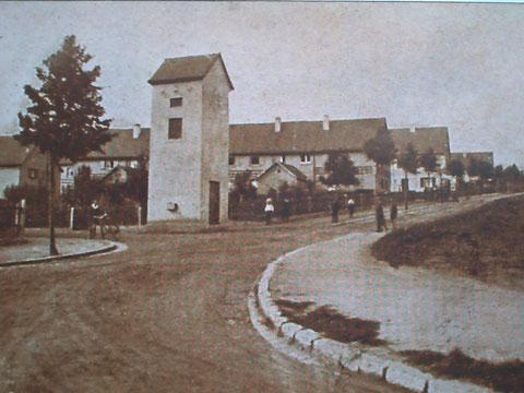 Benno-Merkle-Straße - 1920, nach Fertigstellung der Häuserreihen