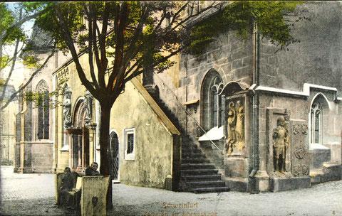 An der Johanniskirche um 1920