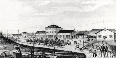 1854 - in diesem Jahr wurde die Bahnstrecke nach Würzburg eröffnet