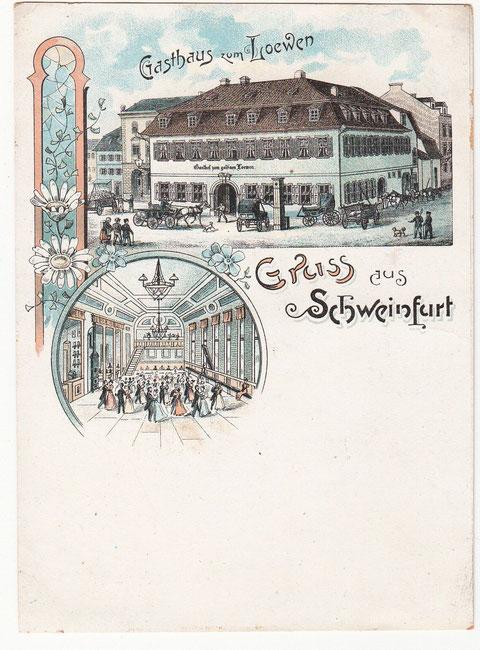 Grußkarte mit Gasthaus Zum Löwen