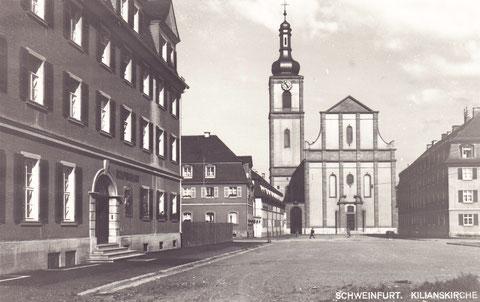 Die alte Kilians-Kirche, Vorgängerin der heutigen , wurde im Zweiten Weltkrieg zerstört