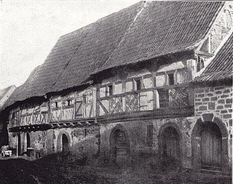 Alte Gaden, um die Kirche führend. Interessante Bauten aus dem 16. und 17. Jahrhundert