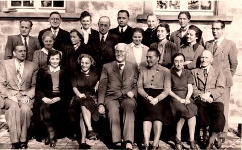 Lehrerkollegium Anfang der 1950er - Danke an Karin Schaffner