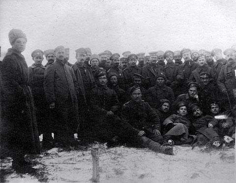Zur Erinnnerung an die Verbrüderung der 2. Kompanie bayer. Lansturm Infanterie Schweinfurt II B. 19 mit den 25 sibirischen Schützen .... (weiteres siehe unten) 8.12.1917