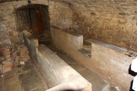 Das Kellergewölbe im zweiten Untergeschoss