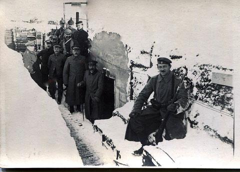 Bunker im Schützengraben Winter 1917 - Schweinfurter Inf. Bat.