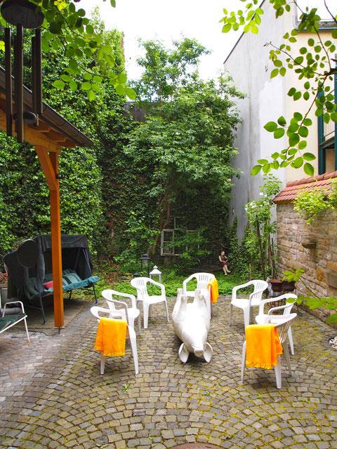 Hinterhof des Ateliers Petra Blume in der Metzgergasse 16