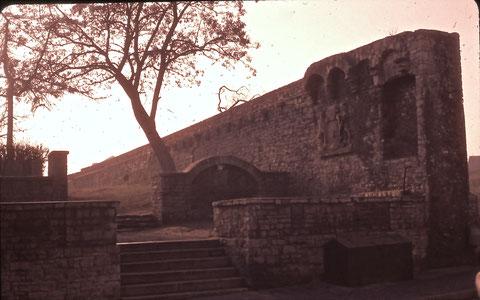 ca. 1960 am Höpperle - Foto: Franz Schwalb - bitte vergrößern! - man sieht mal wieder, was der Krieg noch verschont hatte, wurde später kaputt gemacht....