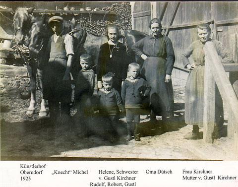 Der Künstlerhof im Jahre 1925 mit Gustl Kirchner als Kind