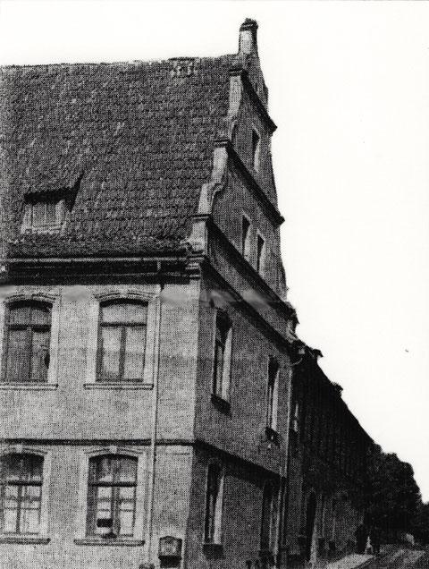 Das Lebküchnerhaus vor der Zerstörung