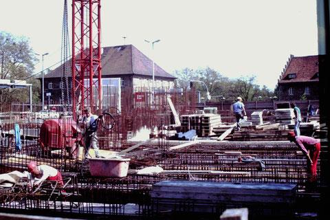 Bau Tiefgarage Georg-Schäfer-Museum 5.5.1990 - Danke an Christel Feyh