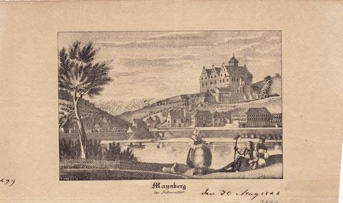 Mainberg 1844 - seltener Stich