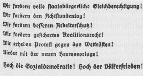 Aktion der SPD gegen die Kriegsvorbereitungen in Deutschland und für den Völkerfrieden