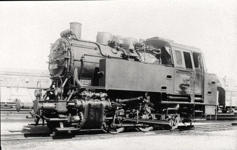 Dampflok 80 038 Bw Schweinfurt 1932