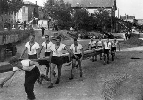 1941 - auf der Mainlände beim ehemaligen Bootshaus