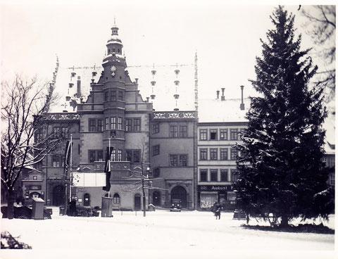 Rathaus im Winter 1936