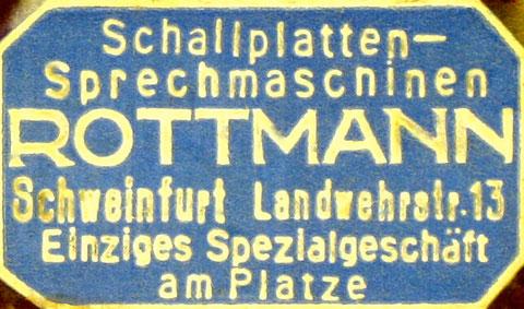 Alte Reklame von Rottmann