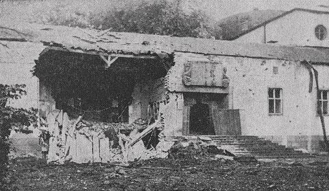 Das Ernst-Sachs-Bad wurde im Zweiten Weltkrieg ebenfalls empfindlich getroffen