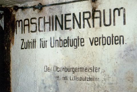Schild zum Be- und Entlüftungsraum