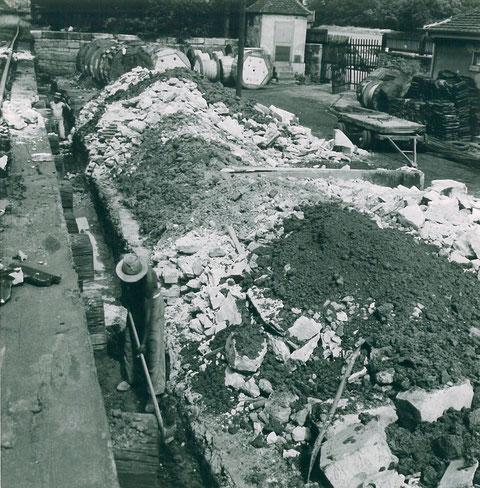 Errichtung Stützmauer f. neue Gleisanlage