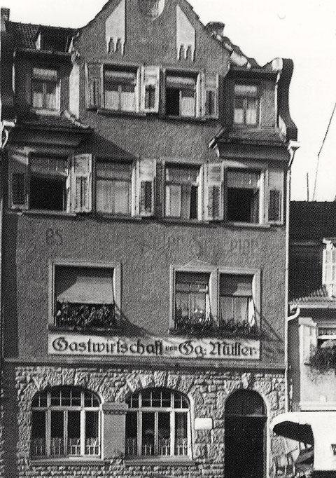 Gastwirtschaft Georg Müller um 1930